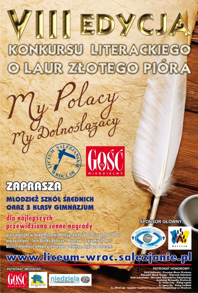 2012_PLAKAT_LICEUM_zlote_pioro_2012